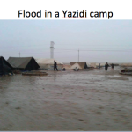 flooded  yezidi camps